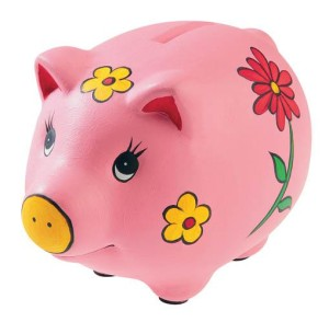 розовая свинья