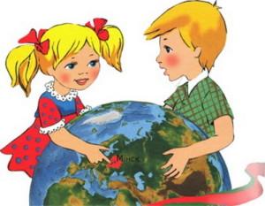 Belarus na globuse